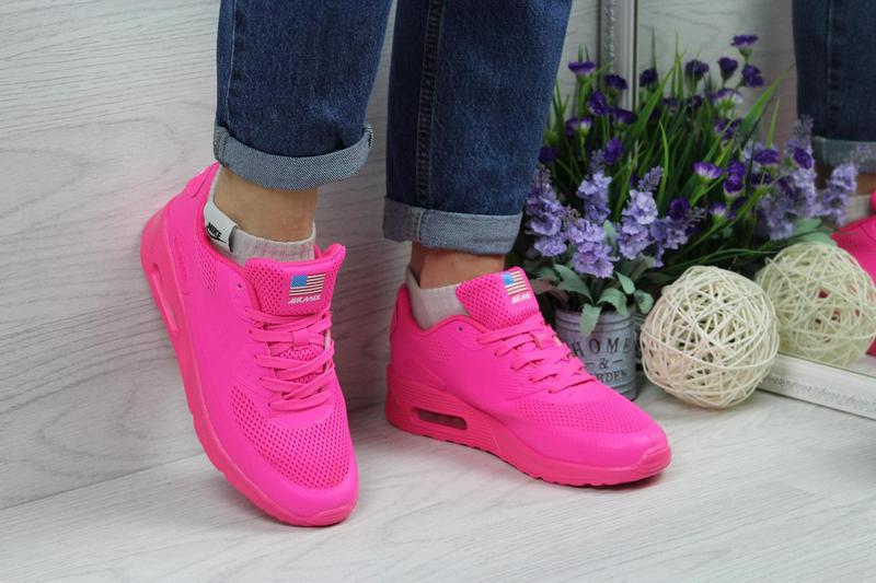 Кроссовки женские Nike Air Max Hyperfuse.Ярко-розовые