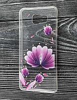 Чехол для Samsung Galaxy A5 2016 (A510) Creative Diamonds фиолетовые цветы
