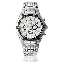 Мужские Наручные Часы Curren (8084) Кварцевые Белые