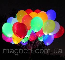 Светящиеся воздушные шарики (30 см) 5шт уп