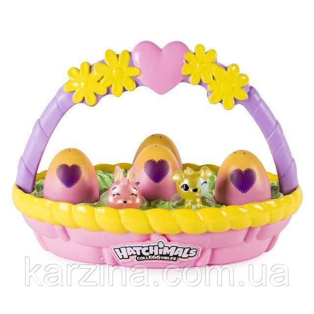 Hatchimals весенняя корзинка с 6 фигурками в яйцах Spin Master