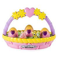 Hatchimals весенняя корзинка с 6 фигурками в яйцах Spin Master , фото 1