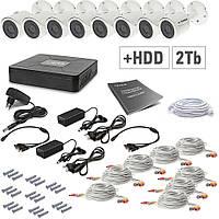 Комплект видеонаблюдения Tecsar 8OUT + HDD 2TБ