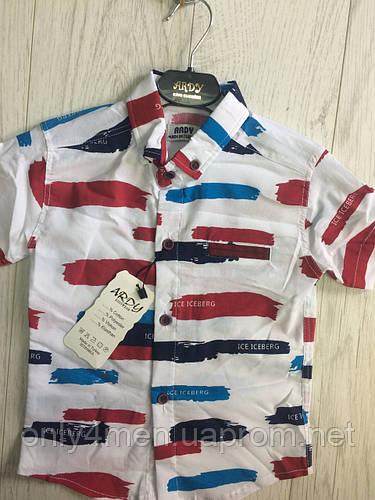 Рубашка с коротким рукавом для мальчика 3-8 лет