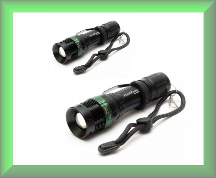 Ручной фонарь BL-8455 + клипса для ремня