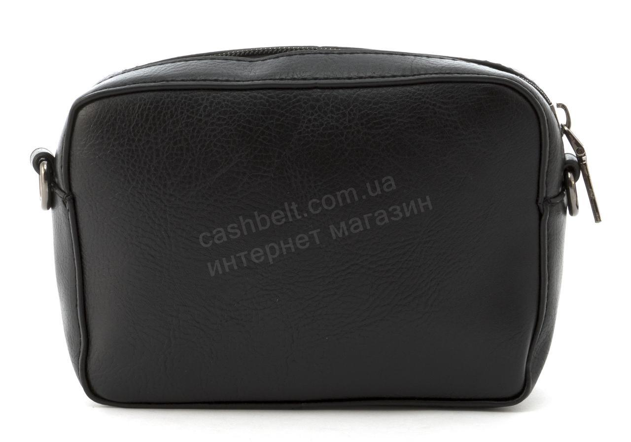 Маленькая вместительная женская сумочка из эко кожи art. 070 черная