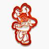 """3D форми для пряників - Вирубка """"Мінні Маус №2"""" 15 см"""