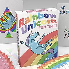 Карты игральные | Rainbow Unicorn Fun Time!