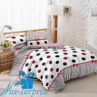 Двуспальный комплект постельного белья из сатина КОКЕТКА (180*220)