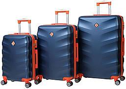 Набор чемоданов на колесах Bonro Next Темно-синий 3 штуки