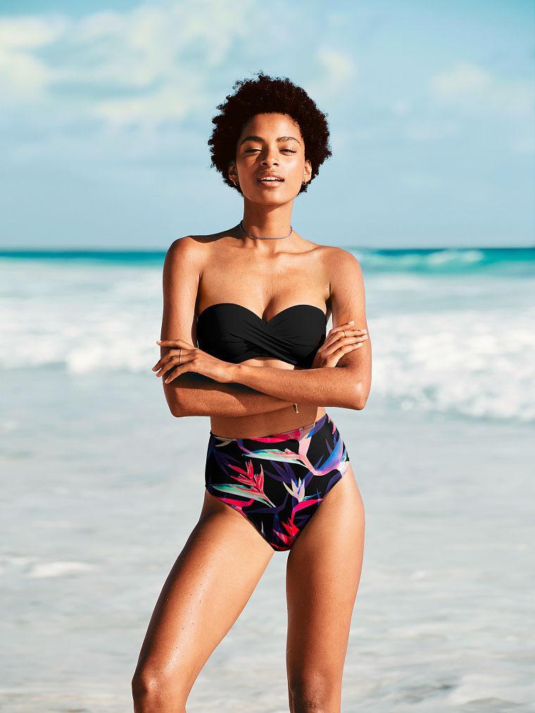 Victoria's Secret Купальник - Бандо Push-Up Bandeau Top & Strappy Back High Waist Bikini L