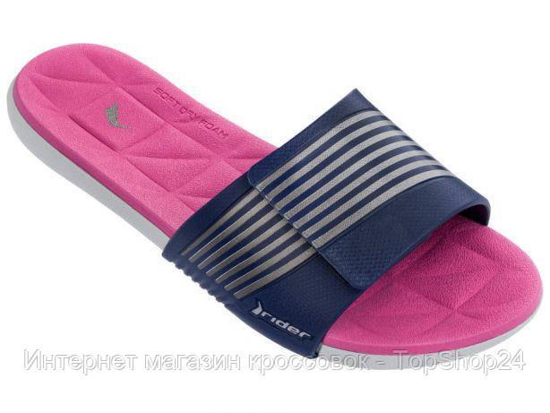 82206-24106 Шлепанцы женские Rider Prana Grey/Blue/Pink