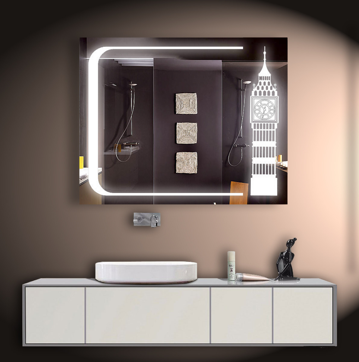 Зеркало LED со светодиодной подсветкой ver-3095 1000х800 мм