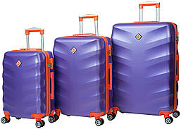 Набор чемоданов на колесах Bonro Next Фиолетовый 3 штуки