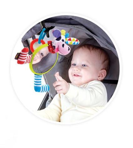 Іграшка на коляску Yookidoo Моє перше дзеркальце Корівка (40144)
