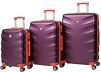 Набор чемоданов на колесах Bonro Next Бордовый 3 штуки, фото 1