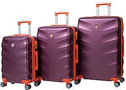 Набор чемоданов на колесах Bonro Next Бордовый 3 штуки