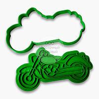 """3D формы для пряников - Вырубка - оттиск """"Мотоцикл"""" 11 см"""