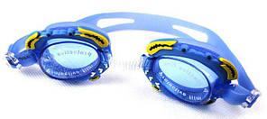 "Очки для плавания детские ""Крабики"" синие"
