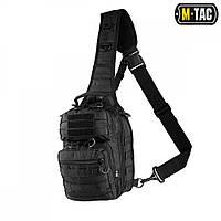 Сумка-рюкзак однолямочная M-Tac Hunter Hexagon черная, фото 1