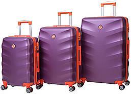 Набор чемоданов на колесах Bonro Next Темно-фиолетовый 3 штуки