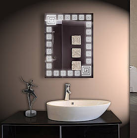 Зеркало LED со светодиодной подсветкой ver-305 800х600