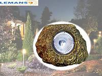Светильник садовый на солнечной батарее декоративный в виде камня с выключателем Lemanso