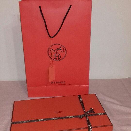 Подарочная  коробка + пакет  HERMES