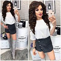 Стильные женские шорты-юбка