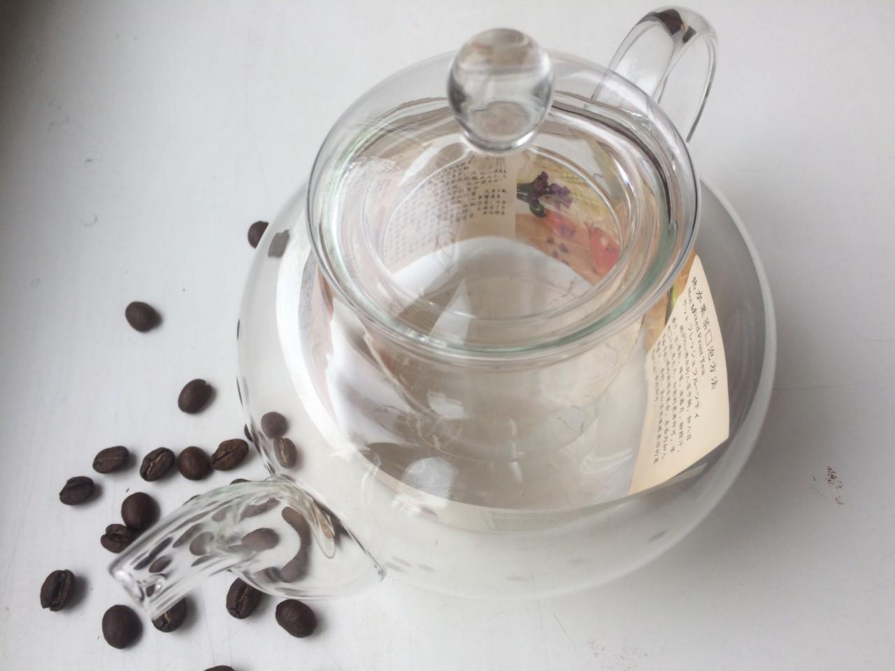 Заварочный чайник Греческий стеклянное сито и крышка, 500 мл