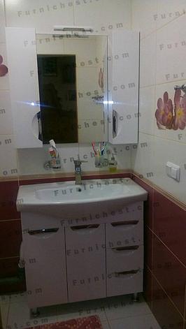 """Тумба под раковину для ванной комнаты Оскар 85 Т-17  с умывальником """"Изео 85"""" Юввис, фото 2"""
