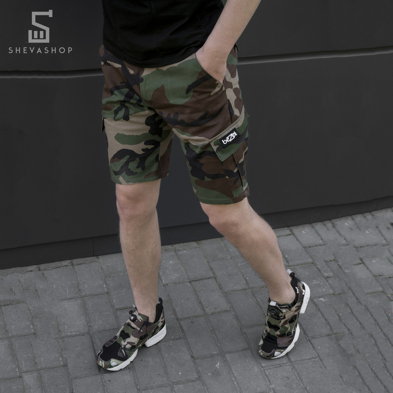 Шорты карго мужские  beZet zipp nato '18, камуфляжные