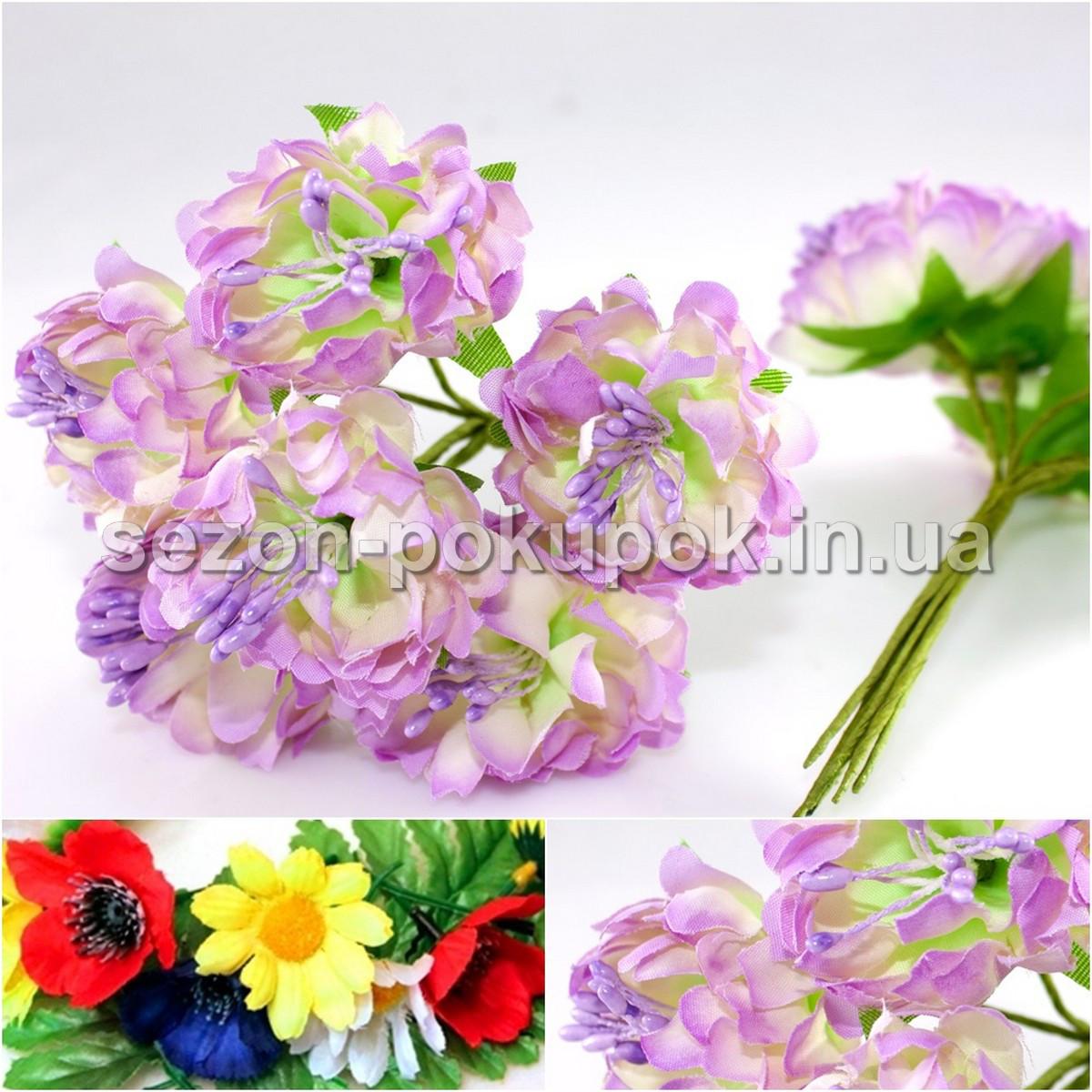 Хризантема Элит букетик, диаметр цветка~3,5-4см  (цена за букет из 6шт) Цвет - Сиреневый