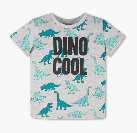 Серая футболка с принтом динозавров для мальчика 4-5 лет C&A Германия Размер 110