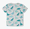 Серая футболка с принтом динозавров для мальчика 4-5 лет C&A Германия Размер 110, фото 2