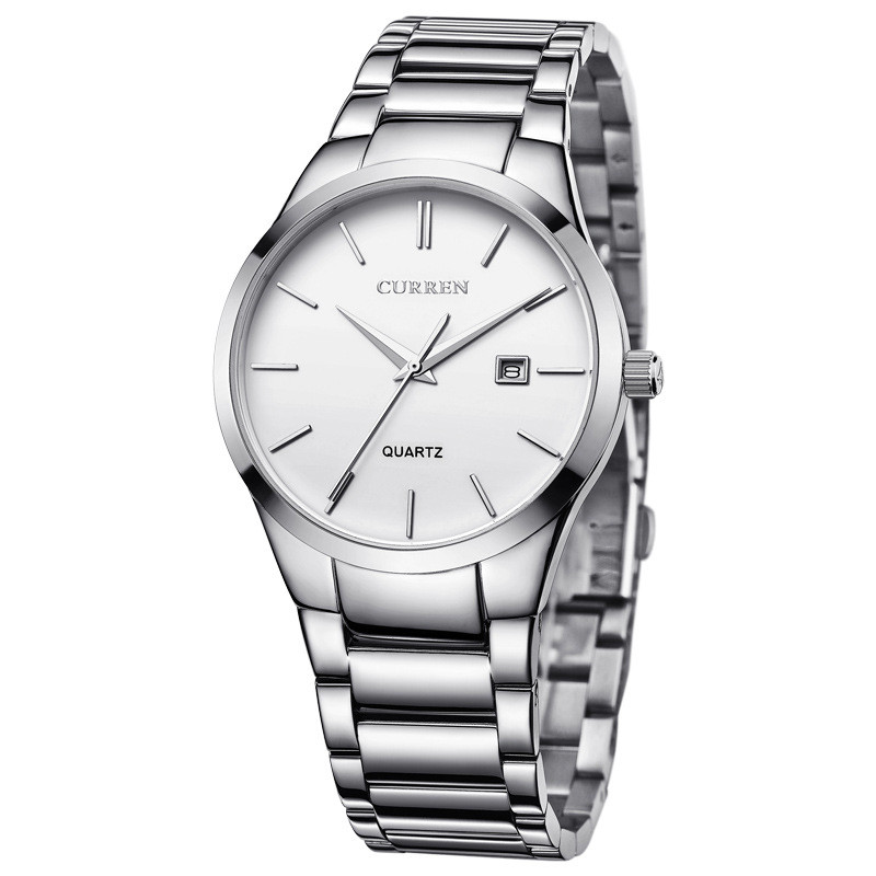 Мужские Наручные Часы Curren (8106) Кварцевые Белые
