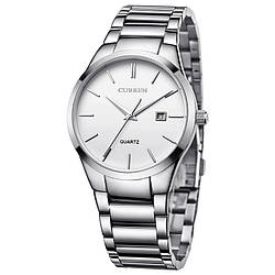 Мужские наручные часы Curren 8106 кварцевые белые
