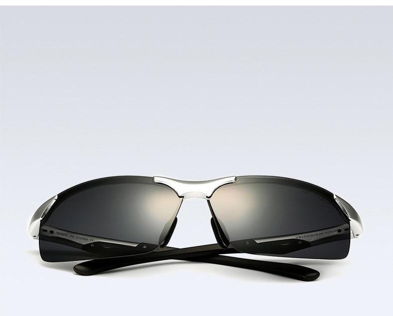 Очки мужские солнцезащитные поляризованные VEITHDIA серебро