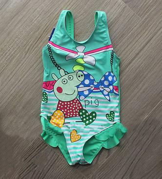 Модный цельный купальник для девочек на море, фото 2