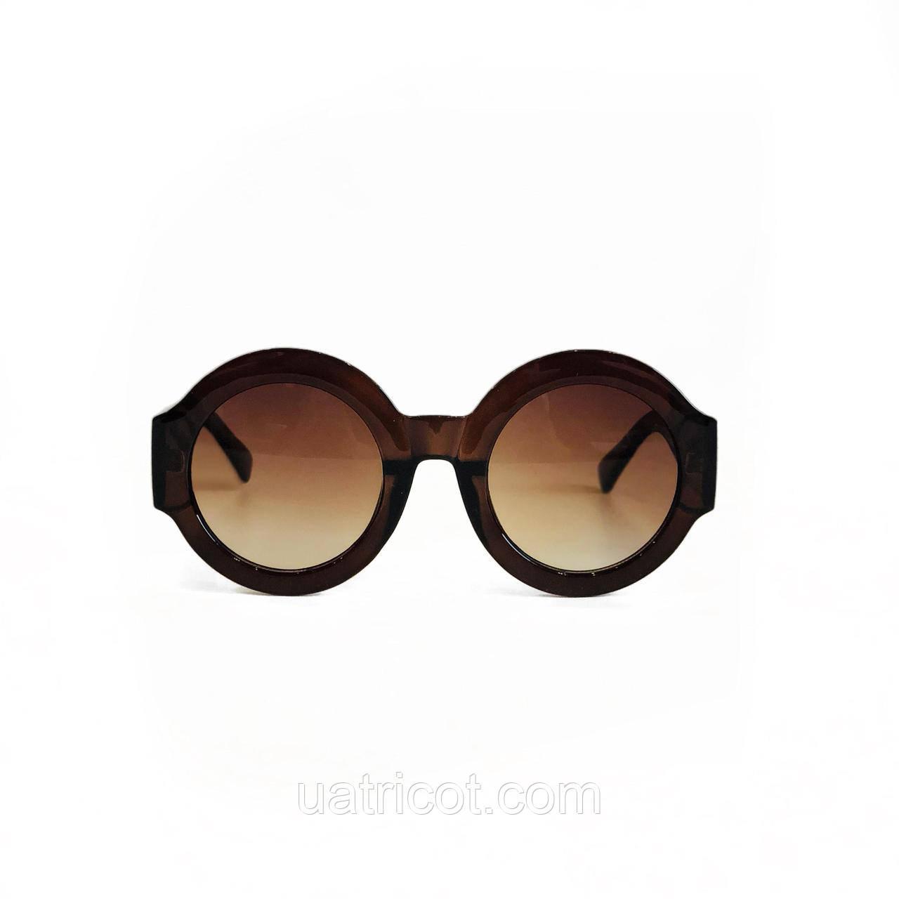 c1492d6504f6 Женские круглые солнцезащитные очки Oversize в коричневой оправе, Женские  ...