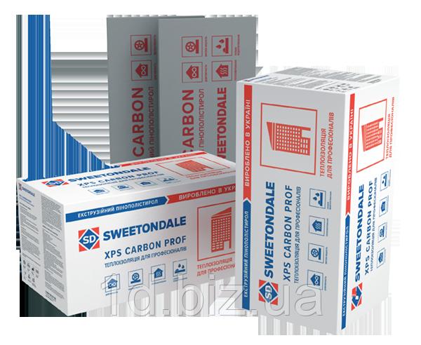 Экструдированный пенополистирол XPS CARBON PROF 400 RF 1180х580х80  (0,27376 м3/ 5плит)