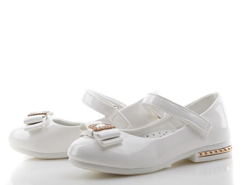 1668d4b40 Шикарные лаковые туфли для девочек белые Солнце Размеры: 27 - 31 -