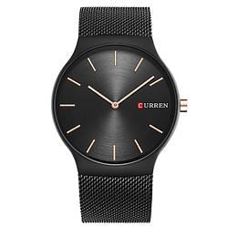 Мужские наручные часы Curren 8256 кварцевые черные