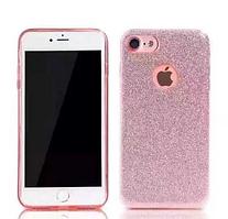 Силиконовый чехол Glitter для iPhone 7 розовый Remax 700203