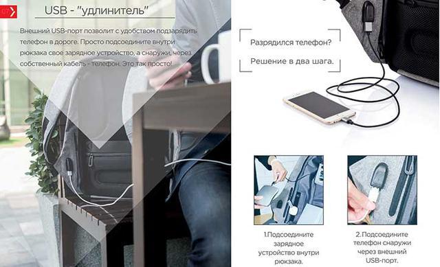 USB-ПОРТ ДЛЯ ЗАРЯДКИ ГАДЖЕТОВ