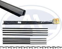 """Уплотнитель опускного стекла двери ВАЗ 2101-03, 2106 горизонтальный, загнутые (к-т 8 шт.) """"бархотка"""""""