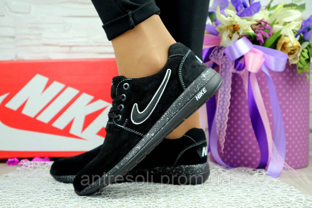 Женские кроссовки Nike Черные замш 100361