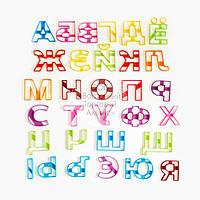 """3D формы для пряников - Набор вырубок """"Алфавит- Буквы Печатные"""" 10 см"""