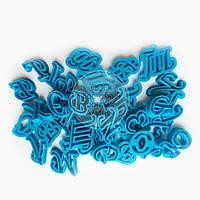 """3D формы для пряников - Набор вырубок """"Алфавит- Буквы Прописные"""" 3 см"""