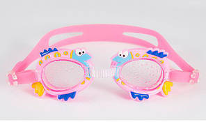 """Очки для плавания детские """"Рыбки"""" розовые"""